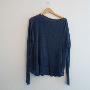 Brandy Melville Wide Neck Sheer Sweater